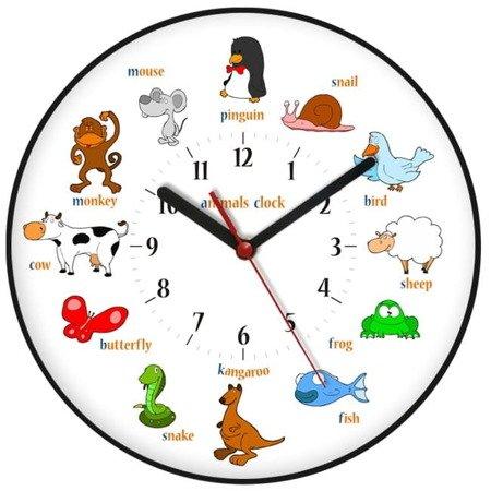 Zegar ścienny dziecięcy edukacyjny ATE2030AC BK SW