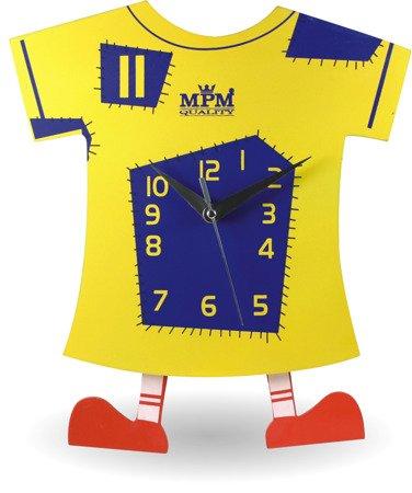 Zegar ścienny dziecięcy kolorowy piłkarski koszulka E01.2519.1030