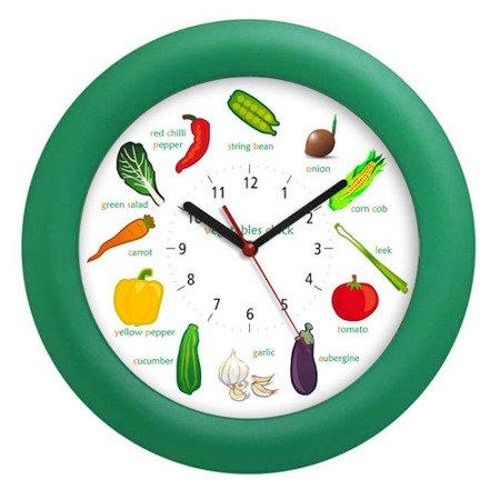 Zegar ścienny dziecięcy warzywa kolorowy ATE820VC Green