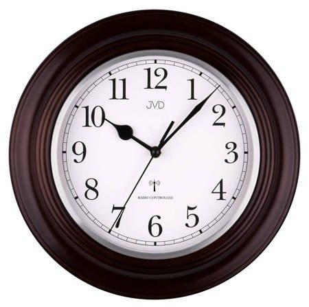 Zegar ścienny klasyczny RADIOWY drewno NR27043.23