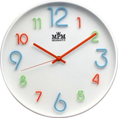 Zegar ścienny kolorowy efektowny czytelny E01.3459.00