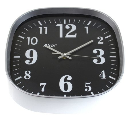 Zegar ścienny kwadratowy ATE2021C BK