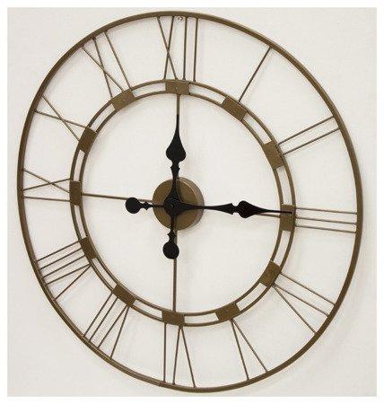 Zegar ścienny metalowy miedziany ażurowy nowoczesny loft duży 103730