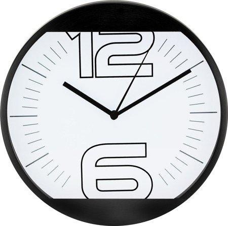 Zegar ścienny metalowy nowoczesny oryginalny E01.2487.90