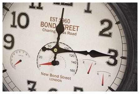 Zegar ścienny metalowy opona loft średni 100609