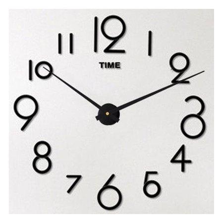Zegar ścienny naklejany DIY czarny DUŻY 100 cm DIY16B4