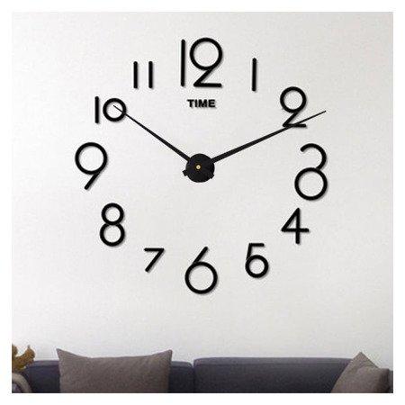Zegar ścienny naklejany DIY czarny DUŻY 110 cm DIY16B3