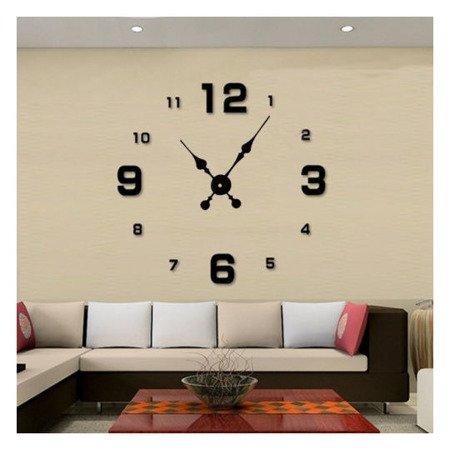 Zegar ścienny naklejany DIY czarny duży 100 cm DIY05B2