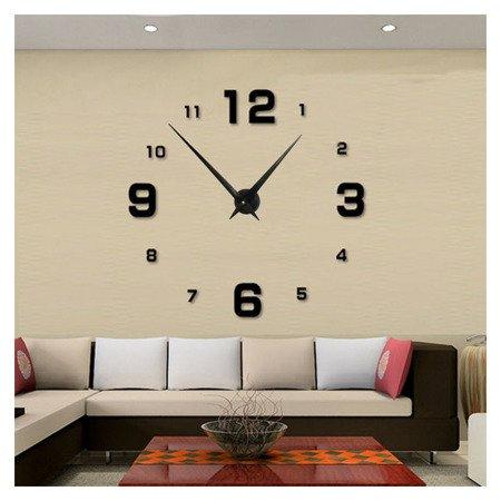 Zegar ścienny naklejany DIY czarny duży 110 cm DIY05B1