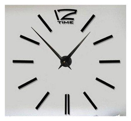 Zegar ścienny naklejany DIY czarny duży 120 cm DIY01B1