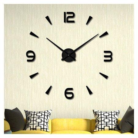 Zegar ścienny naklejany czarny duży 120 cm DIY15B1