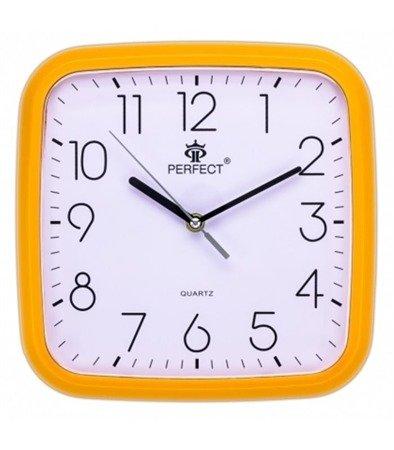 Zegar ścienny pomarańczowy nowoczesny czytelny tworzywo FX-5792 Orange