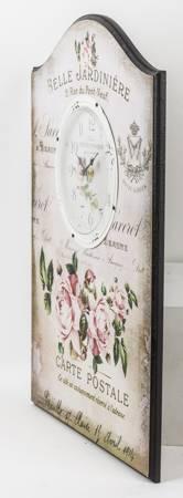 Zegar ścienny retro RÓŻE BARDZO DUŻY 50 cm 93344