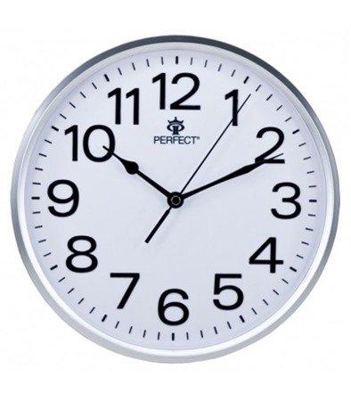 Zegar ścienny srebrny nowoczesny czytelny tworzywo GWL683 Silver