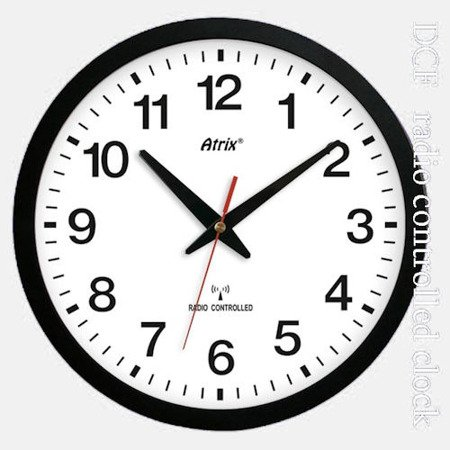 Zegar ścienny sterowany radiowo nowoczesny czytelny ATE0136RC