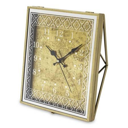 Zegar stojący kominkowy złoty retro 117198